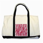 SKIN3 WHITE MARBLE & PINK DENIM Two Tone Tote Bag Front