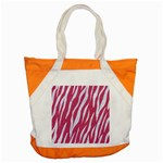 SKIN3 WHITE MARBLE & PINK DENIM Accent Tote Bag Front