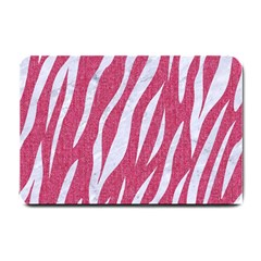SKIN3 WHITE MARBLE & PINK DENIM Small Doormat