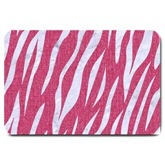 SKIN3 WHITE MARBLE & PINK DENIM Large Doormat