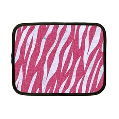 SKIN3 WHITE MARBLE & PINK DENIM Netbook Case (Small)