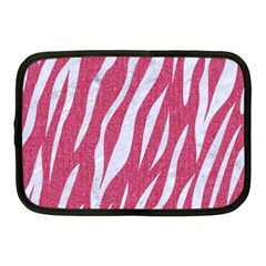 SKIN3 WHITE MARBLE & PINK DENIM Netbook Case (Medium)