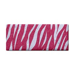 SKIN3 WHITE MARBLE & PINK DENIM Hand Towel
