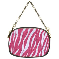 SKIN3 WHITE MARBLE & PINK DENIM Chain Purses (One Side)