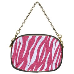 Skin3 White Marble & Pink Denim Chain Purses (two Sides)  by trendistuff
