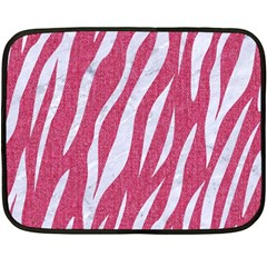 SKIN3 WHITE MARBLE & PINK DENIM Fleece Blanket (Mini)