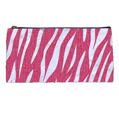 Skin3 White Marble & Pink Denim Pencil Cases by trendistuff