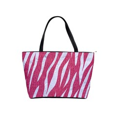 SKIN3 WHITE MARBLE & PINK DENIM Shoulder Handbags