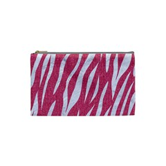 SKIN3 WHITE MARBLE & PINK DENIM Cosmetic Bag (Small)