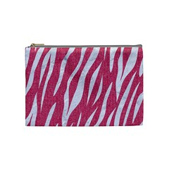 SKIN3 WHITE MARBLE & PINK DENIM Cosmetic Bag (Medium)