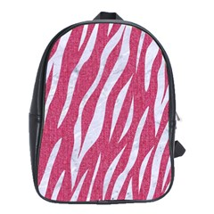 SKIN3 WHITE MARBLE & PINK DENIM School Bag (Large)