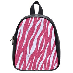 SKIN3 WHITE MARBLE & PINK DENIM School Bag (Small)