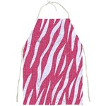 SKIN3 WHITE MARBLE & PINK DENIM Full Print Aprons Front