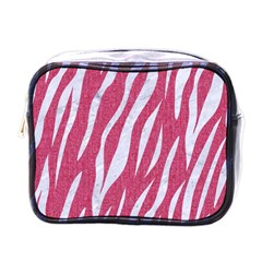 SKIN3 WHITE MARBLE & PINK DENIM Mini Toiletries Bags
