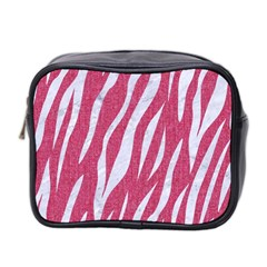 Skin3 White Marble & Pink Denim Mini Toiletries Bag 2 Side by trendistuff