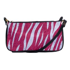 SKIN3 WHITE MARBLE & PINK DENIM Shoulder Clutch Bags