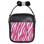 SKIN3 WHITE MARBLE & PINK DENIM Girls Sling Bags Front