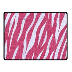 SKIN3 WHITE MARBLE & PINK DENIM Fleece Blanket (Small)