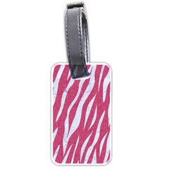 Skin3 White Marble & Pink Denim Luggage Tags (one Side)