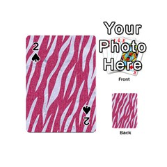 SKIN3 WHITE MARBLE & PINK DENIM Playing Cards 54 (Mini)