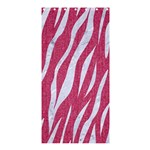 SKIN3 WHITE MARBLE & PINK DENIM Shower Curtain 36  x 72  (Stall)  33.26 x66.24 Curtain