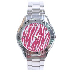 SKIN3 WHITE MARBLE & PINK DENIM Stainless Steel Analogue Watch
