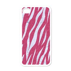 Skin3 White Marble & Pink Denim Apple Iphone 4 Case (white) by trendistuff