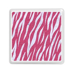 SKIN3 WHITE MARBLE & PINK DENIM Memory Card Reader (Square)
