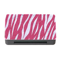 SKIN3 WHITE MARBLE & PINK DENIM Memory Card Reader with CF