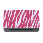 SKIN3 WHITE MARBLE & PINK DENIM Memory Card Reader with CF Front