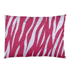 SKIN3 WHITE MARBLE & PINK DENIM Pillow Case (Two Sides)