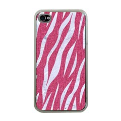 SKIN3 WHITE MARBLE & PINK DENIM Apple iPhone 4 Case (Clear)