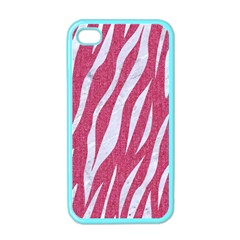 Skin3 White Marble & Pink Denim Apple Iphone 4 Case (color)
