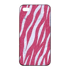 Skin3 White Marble & Pink Denim Apple Iphone 4/4s Seamless Case (black) by trendistuff