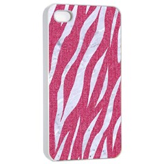 SKIN3 WHITE MARBLE & PINK DENIM Apple iPhone 4/4s Seamless Case (White)