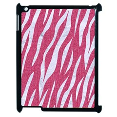 SKIN3 WHITE MARBLE & PINK DENIM Apple iPad 2 Case (Black)