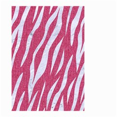 SKIN3 WHITE MARBLE & PINK DENIM Small Garden Flag (Two Sides)