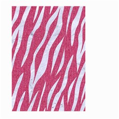 Skin3 White Marble & Pink Denim Large Garden Flag (two Sides)