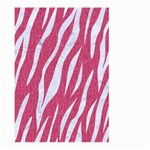 SKIN3 WHITE MARBLE & PINK DENIM Large Garden Flag (Two Sides) Front