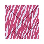 SKIN3 WHITE MARBLE & PINK DENIM Acrylic Tangram Puzzle (6  x 6 ) Front
