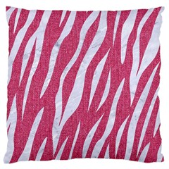 Skin3 White Marble & Pink Denim Large Cushion Case (one Side) by trendistuff