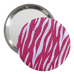 SKIN3 WHITE MARBLE & PINK DENIM 3  Handbag Mirrors