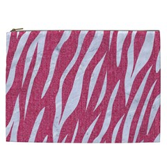 SKIN3 WHITE MARBLE & PINK DENIM Cosmetic Bag (XXL)
