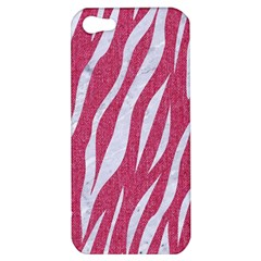 Skin3 White Marble & Pink Denim Apple Iphone 5 Hardshell Case
