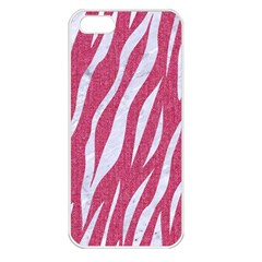 SKIN3 WHITE MARBLE & PINK DENIM Apple iPhone 5 Seamless Case (White)