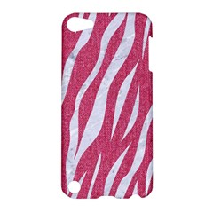 SKIN3 WHITE MARBLE & PINK DENIM Apple iPod Touch 5 Hardshell Case