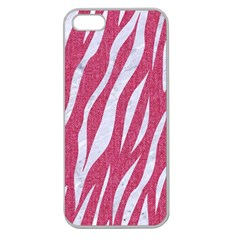 SKIN3 WHITE MARBLE & PINK DENIM Apple Seamless iPhone 5 Case (Clear)