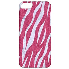 SKIN3 WHITE MARBLE & PINK DENIM Apple iPhone 5 Classic Hardshell Case
