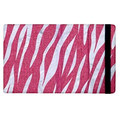 SKIN3 WHITE MARBLE & PINK DENIM Apple iPad 3/4 Flip Case