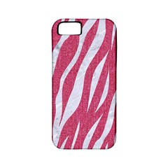 SKIN3 WHITE MARBLE & PINK DENIM Apple iPhone 5 Classic Hardshell Case (PC+Silicone)
